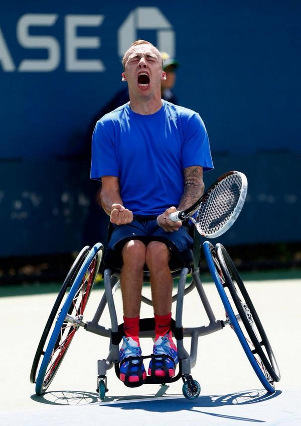 Andy Lapthorne USOpen2014 GREAT BRITAIN'S ANDY LAPTHORNE CLAIMS FIRST GRAND SLAM SINGLES TITLE AT US OPEN