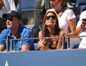 American tennis player Mardy Fish's wife Stacey Gardner attends the U.S. Open tennis tournament on Monday, Sept. 6, 2010 in New York. (AP Photo/Evan Agostini)